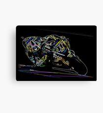 Neon Valentino Rossi Canvas Print