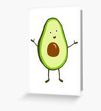 Mr Avocado Greeting Card