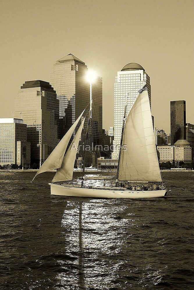 NYC Sunset Sail by AriaImages