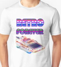 RETRO FOREVER DELOREAN Unisex T-Shirt