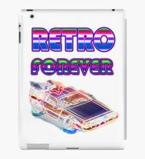 RETRO FOREVER DELOREAN iPad Case/Skin