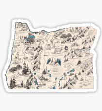 Pegatina Mapa de fotos vintage de Oregón