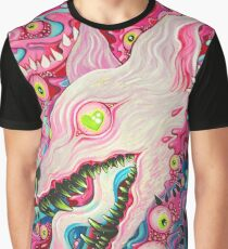 Glitterwolf Acrylic Painting Graphic T-Shirt