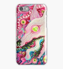 Glitterwolf Acrylic Painting iPhone Case/Skin