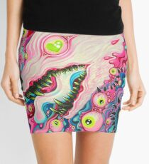 Glitterwolf Acrylic Painting Mini Skirt