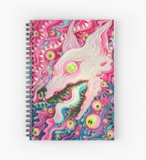 Glitterwolf Acrylic Painting Spiral Notebook