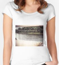 Ducks Through The Fence Women's Fitted Scoop T-Shirt
