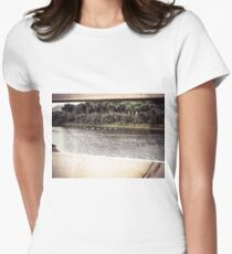 Ducks Through The Fence Women's Fitted T-Shirt