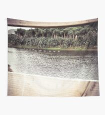 Ducks Through The Fence Wall Tapestry