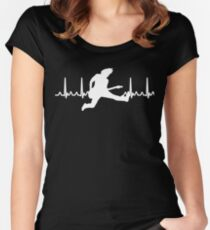 Heart Beat Guitar Player Women's Fitted Scoop T-Shirt