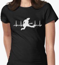 Heart Beat Guitar Player Womens Fitted T-Shirt