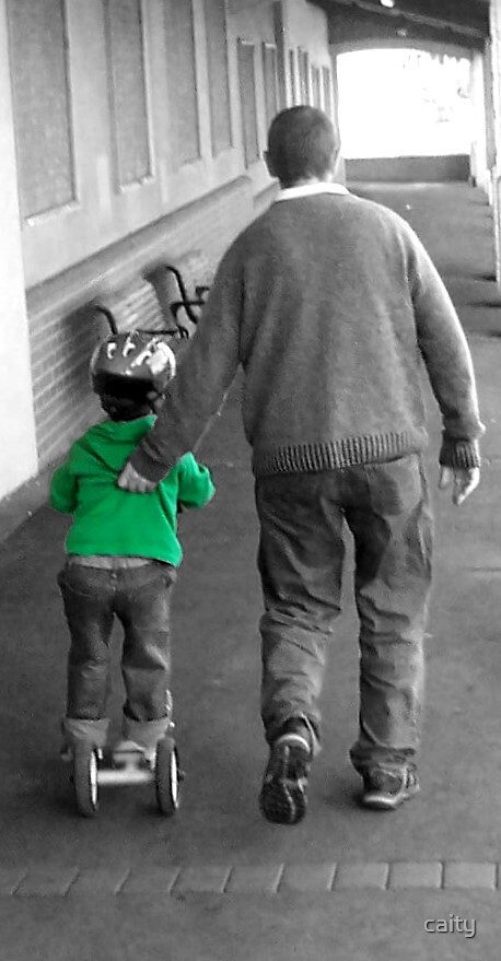 father and son by caity