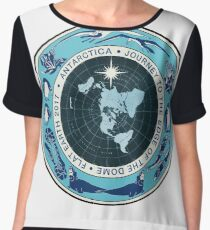 Flat Earth Designs - Antarctica Journey to the Edge of the Dome 2017 Chiffon Top