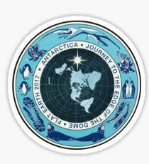 Flat Earth Designs - Antarctica Journey to the Edge of the Dome 2017 Sticker