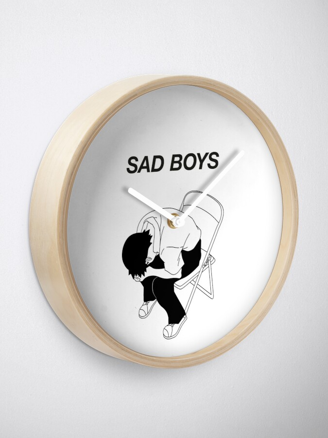 Alternate view of Sad boy Clock