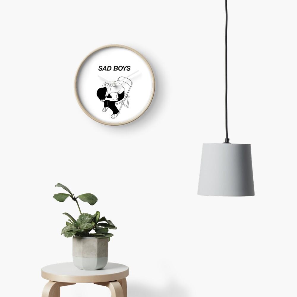 Sad boy Clock