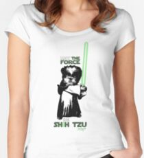 May The Force Be Shih Tzu Women's Fitted Scoop T-Shirt