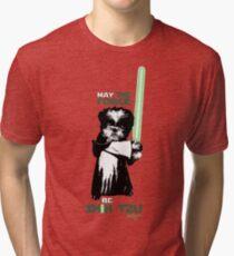 May The Force Be Shih Tzu Tri-blend T-Shirt