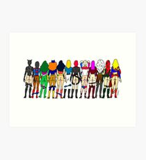 Superheroine Butts - Group Art Print