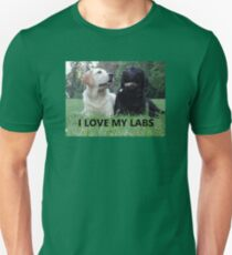 labrador retriever i love my labs picture Unisex T-Shirt