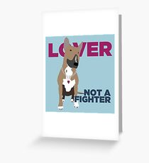 Roxy the Bull Terrier Greeting Card