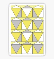 Yellow Retro Sticker