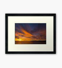 Spectacular sunset Peniche Portugal Framed Print