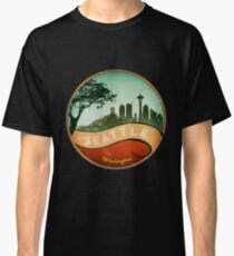 Vintage Seattle skyline Classic T-Shirt