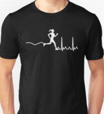 HeartBeat Woman Runner Unisex T-Shirt