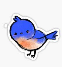Adorable Kawaii Bluebird Sticker