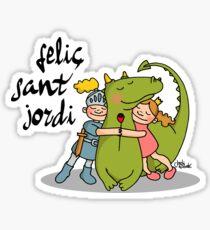 Feliç Diada De Sant Jordi  Sticker