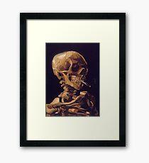 Vincent Van Gogh's 'Skull with a Burning Cigarette'  Framed Print