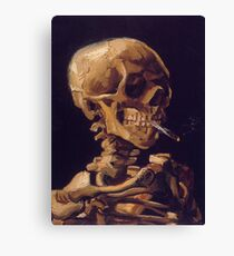 Vincent Van Gogh's 'Skull with a Burning Cigarette'  Canvas Print