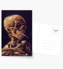 """Postales """"Cráneo con un cigarrillo encendido"""" de Vincent Van Gogh"""