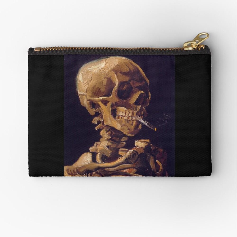 """""""Cráneo con un cigarrillo encendido"""" de Vincent Van Gogh Bolsos de mano"""