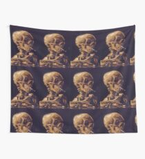 Vincent Van Gogh's 'Skull with a Burning Cigarette'  Wall Tapestry