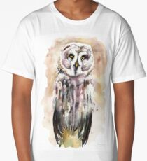 Gary the Great Gray Owl  Long T-Shirt