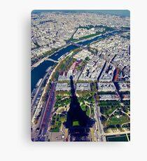 Eiffel tower shade Canvas Print
