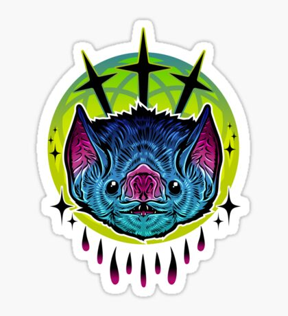 Neon Bat Sticker