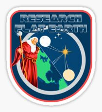 Flat Earth Designs - Research Flat Earth Wizard Sticker