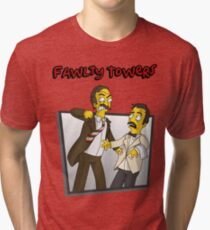 Fawlty Towers - Simpsons Style! Tri-blend T-Shirt