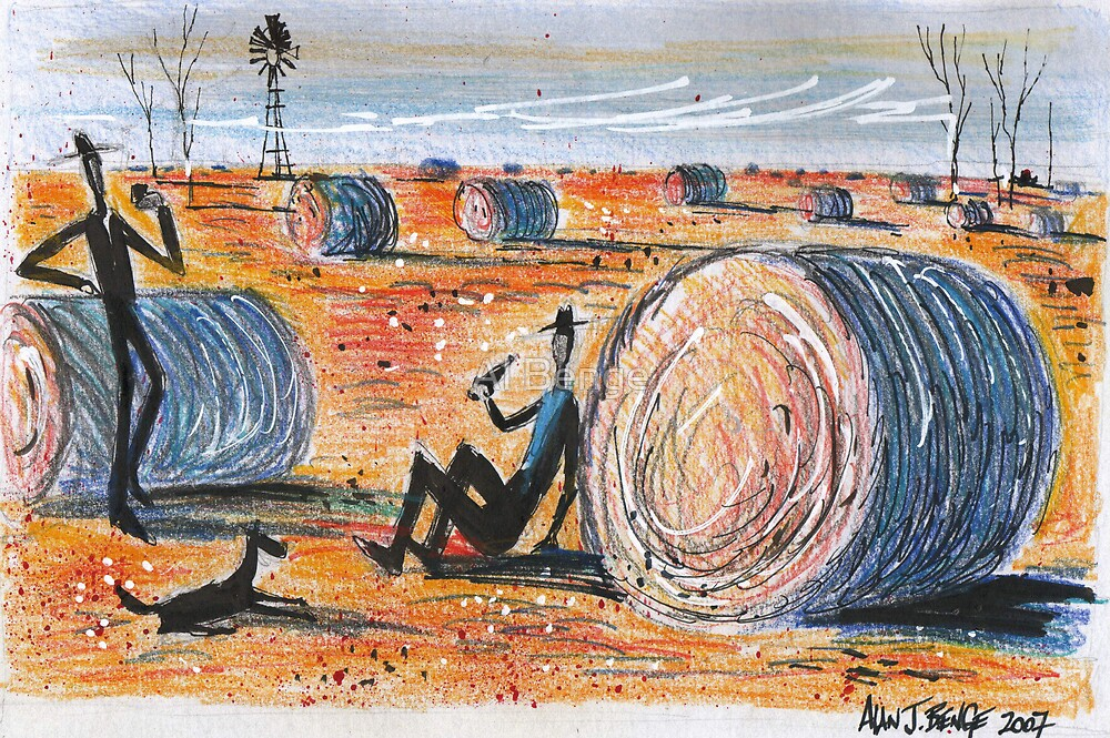 Harvesting the sorghum by Al Benge