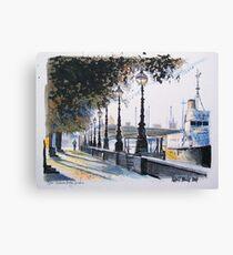 London drawing - Waterloo Bridge on the Embankment Leinwanddruck