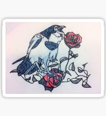 Raven and the Roses Sticker