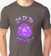 IN IT TO CRIT IT! - Purple Unisex T-Shirt