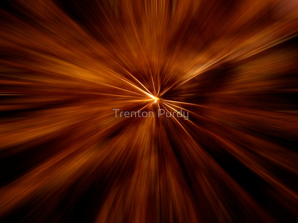 Zooming Gold Fireworks by Trenton Purdy