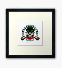 Leprechaun Skull with Crossed Pipes Framed Print