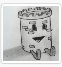Castle Guy Cartoon Sticker