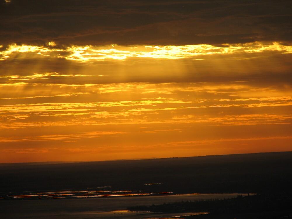 Melbourne Sunset2 by cjwr