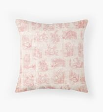 Vintage Alice print Throw Pillow